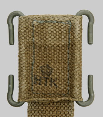 Image of Danish web strap belt frog